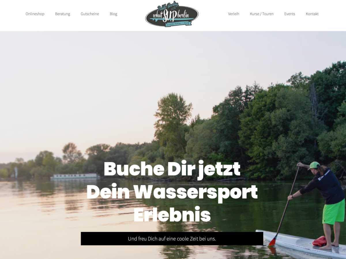 whatSUPberlin Website Teaser 2.0