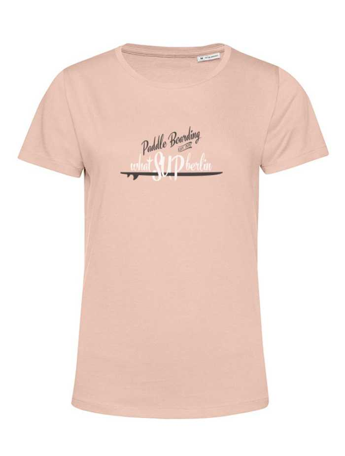 whatSUPberlin T-Shirt Women, Soft Roe, Organic Cotton